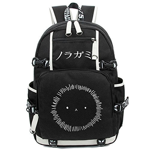 Siawasey Anime Noragami Cosplay Luminous Segeltuch Daypack Laptop Rucksack Schultertasche Schultasche