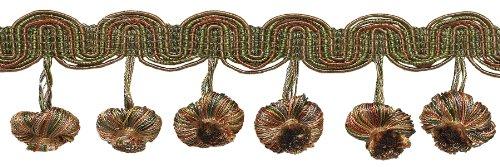 LT BRONZE, Olive Grün, Terrakotta 5,1cm Barock Zwiebel Quaste Fransen, Stil # tfb2Farbe: Chaparral-5615, verkauft von der Yard -