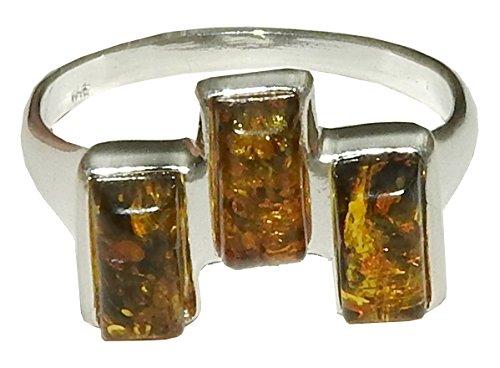 Authentic Baltischer Bernstein Ring 04Natural Spirituelle Heilung Kristall Energie Größe 11,25(Geschenk-Box) -