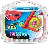 Maped M836310 - Gelmalstifte Color Peps Smoothy, 10 Stück in Aufbewahrungsbox