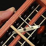ANVNR Japanischen Soroban Abacus Holzrahmen Perlen Classic Antike Student Taschenrechner