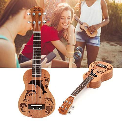 Ukulele Dolphin Pattern Ukulele für Gitarre, satiniertes Musiktitel -