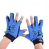 Forfar Beautyrain 1Pair Nicht Beleg Angeln Handschuhe Adult Wasserdicht 3 Cut Finger Anti Rutsch Anti Rutsch Mitts im Freien Sport Angeln Handschuhe