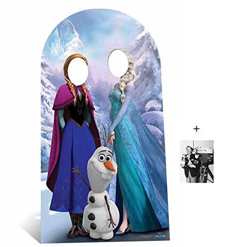nd Elsa mit Olaf aus Die Eiskönigin Pappfiguren stehen hinter / Pappaufsteller mit 25cm x 20cm foto ()