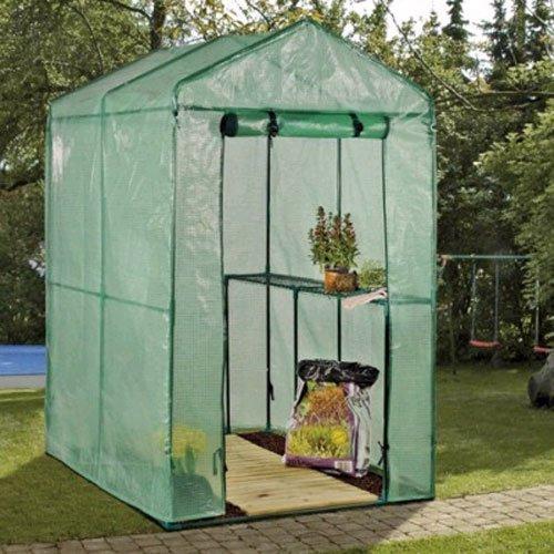 Treibhaus, Gewächshaus, Anzuchtregal, BxTxH: ca. 120x170x200 cm, geeignet für Saatkeimung und Anzucht von Pflanzen und Gemüse