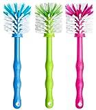 Deine Bürste 3er Pack Mixtopf Spülbürste - Reinigungsbürste perfekt geeignet zum Reinigen von z.B. Thermomix ® TM5, TM31, TM 21 - Zubehör je (1x Blau/ 1x Grün/ 1x Pink)