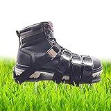 MEIWO Chaussures d'aérodrome à Gazon, Sandales aéroportives Spikes avec 4 Sangles réglables et Boucles d'alliage de Zinc, Taille Universelle Qui s'adapte à Toutes Les Chaussures ou Bottes