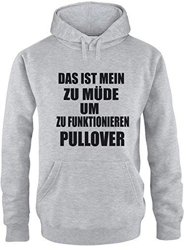 EZYshirt Das ist mein zu Müde um zu Funktionieren Pullover Herren Hoodie Grau/Schwarz