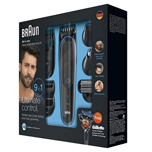 Braun 9 en 1 MGK3085 - Corta Barbas hombre Todo en 1 Recortadora Barba, Depiladora Masculina, Máquina...