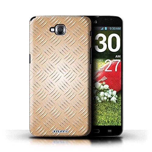 Kobalt® Imprimé Etui / Coque pour LG G Pro Lite/D680 / Vert conception / Série Motif en Métal en Relief Or