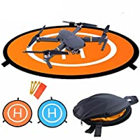 Xnature 55cm/ 21.5in Diameter Waterproof Fast-Fold RC Helicopter Landing Pad Helipad 2 Sides for RC Drones Helicopter DJI Mavic Pro, Phantom 2/3/4/4 Pro, Inspire 2/1, 3DR Solo, Parrot, Antel Robotic, Syma