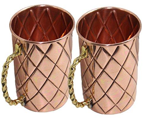 Street Craft Handwerk Classic Moscow Mule Kupfer Tassen, Kapazität 16Unze 16 Ounce braun 22 Gauge Sheet