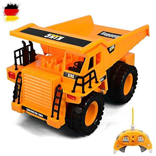 RC ferngesteuerter Tieflader Baustellen-Fahrzeug Modellbau, Auto, Bagger-Modell 1:22 Ready-To-Drive + Schwenkbarer Arm, Neu (Bau-lkw)