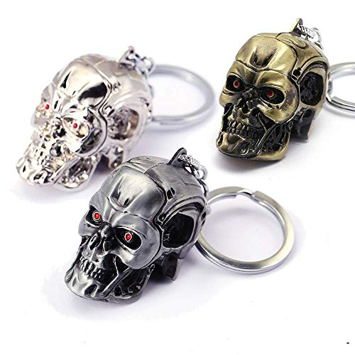 Llavero de Metal con Cráneo (Paquete de 3)
