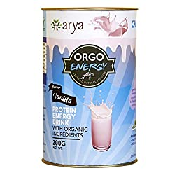 Arya Farm Health Drink Protein Energy Vanilla (Orgo Energy), 200g