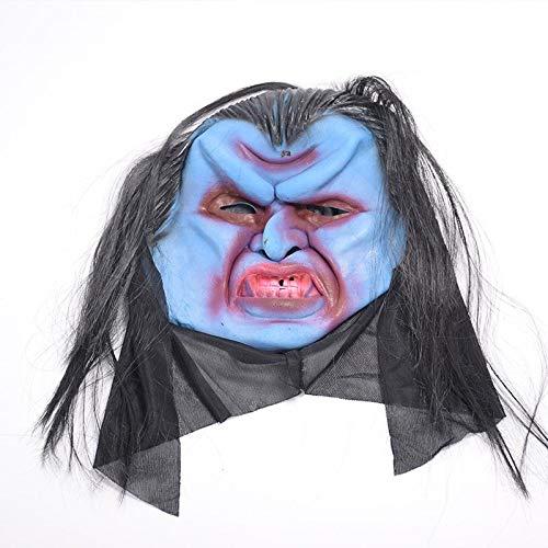 MIANJV Halloween Horror Full Face Ghost Maske Neuheit Latex Rubber Gruselige Kopf Masken Schrecklichen Albtraum für Kostüm Party