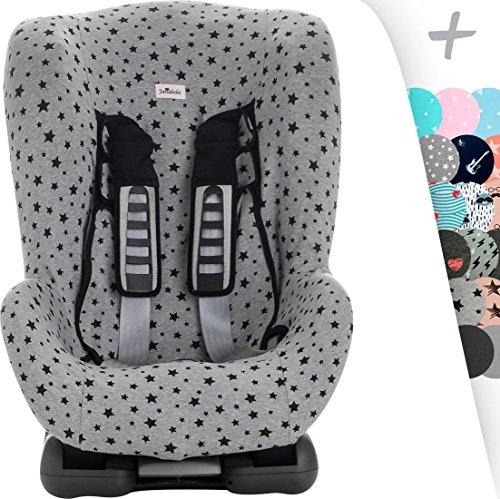 JANABEBE Schutzhülle Universal für Auto-Kindersitz Gruppe 1, 2 und 3 (BLACK STAR)