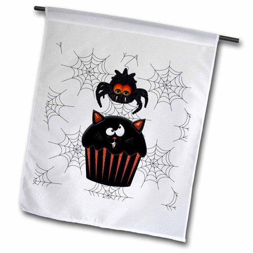 (3dRose FL 202988_ 1Cute Furry Halloween Spider stehlen ein Sweet Kürbis Cupcake Garten Flagge, 12durch 45,7cm)