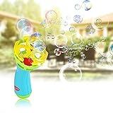 Macchina del creatore della bolla Macchina del blaster della bolla ha impostato il ventilatore della bacchetta di bolla per i bambini idonei esterni del giardino del partito del partito del giocattolo immagine