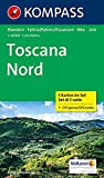 Toscana Nord: Wanderkarten-Set in der Schutzhülle mit Radrouten. GPS-genau. 1:50000 (KOMPASS-Wanderkarten, Band 2439): 3-delige Wandelkaart 1:50 000