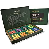 Sampler di bustine di tè assortiti (40 bustine di tè) - Tea Sampler - Tè nero, tè verde, tè Oolong, tè Chai, tisana - bustine di tè piramide - set regalo di tè raffinato