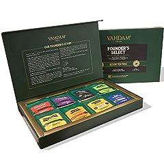 Idea Regalo - VAHDAM, campionatore assortito di bustine di tè - 8 gusti di tè, 40 bustine di tè Il tè preferito di OPRAH 2019 | Ingredienti naturali al 100% | Regali di compleanno per uomo | Regali per papà