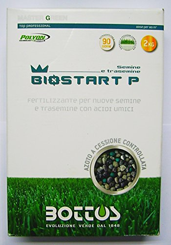 concime fertilizzante per prato bottos bio start 12-20-15- 2 kg