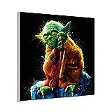 Anfwy Star Wars Yoda Micro Spray Core Décoration sans Cadre Peinture 30X30cm sans Cadre