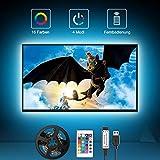 LED TV Hintergrundbeleuchtung, 2M USB LED Strip Fernseher Beleuchtung für 40 bis 60 Zoll HDTV,TV-Bildschirm und PC-Monitor, Hintergrundbeleuchtung Fernseher mit 24-Key Fernbedienung