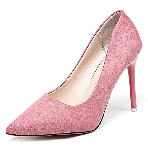 DIMAOL Scarpe Donna PU Primavera Cadono Comfort Tacchi Stiletto Heel per Esterni di Rosa Nero Verde Rosa