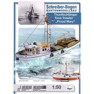 Aue-Verlag 40 x 11 x 39 cm Proud Mary Tuna Fish Trawler Model Kit
