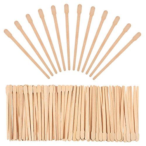 500 Packung Wachs Spatel Holz Handwerk Sticks Kleine für Haarentfernung Augenbrauen Wachs Applikator Sticks -