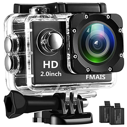 FMAIS 1080P Action Camera Camcorder Full HD LCD da 2 pollici Underwater 30m/98ft...