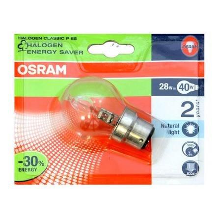 Osram 4008321952936 Ampoule halogènes/Basse consommation Verre 30,00 W B22d Transparent