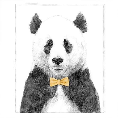96bb4c734c81 Moslion Soft Cozy Throw Blanket Giant Panda Wear A Tie Fuzzy Warm Couch/Bed  Blanket