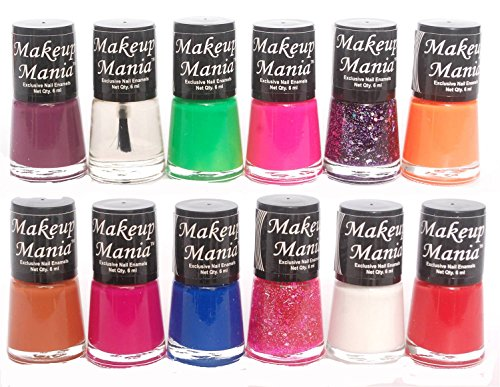 Makeup Mania Exclusive Nail Polish Set of 12 Pcs (Multicolor Set # 77)