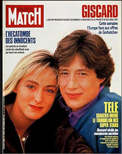Paris Match n 1980 du 8 Mai 1987 - Patrick Sabatier, Jean-Marc Boivin, Jeane Manson, Lady Diana, Franois Mitterrand au Maroc