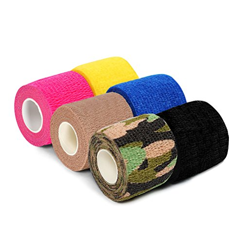 Selbstklebende Bandage, innoplus Haftbandage Wrap Sport Tape für Handgelenk, Knöchel, Finger, Zehen, Ellenbogen und Knie 5,1cm X 5Meter 6Zählen, FDA genehmigt (Ace Royal Farbe)