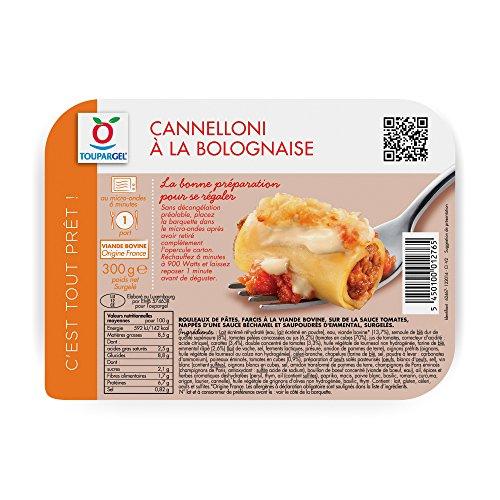 TOUPARGEL - Cannelloni à la bolognaise - 300 g - Surgelé