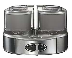Cuisinart ICE40BCE Machine à glace Duo, 2 bols accumulateurs de froid (2x1L)
