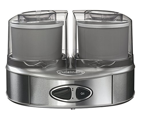 Cuisinart ICE40BCE Machine à glace Duo, 2 bols accumulateurs de froid (2x1L)