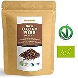 Roh Kakao Nibs Bio 1Kg | Organic Raw Cacao Nibs | 100% Rohkost, natürlich und rein | Produziert in Peru aus der Theobroma Cocoa Pflanze | Superfood reich an Antioxidantien, Mineralien und Vitaminen.