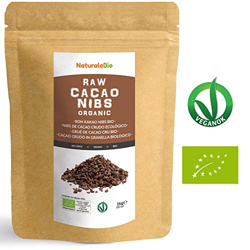 Organic Raw Cacao Nibs 1 kg | 100% Peruvian, Natural and Pure | Made in Peru from The Theobroma Cacao Plant | Superfood Rich in Antioxidants, Minerals and Vitamins | NATURALEBIO  Organic Raw Cacao Nibs 1 kg | 100% Peruvian, Natural and Pure | Made in Peru from The Theobroma Cacao Plant | Superfood Rich in Antioxidants, Minerals and Vitamins | NATURALEBIO 51f 2BzQYkBFL