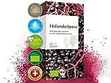 Bio Holunderbeere Kapseln • biozertifiziert mit 250 mg Holunderbeeren-Extrakt pro Kapsel mit mind. 6,8% Anthocyanidinen • 60 Stk.