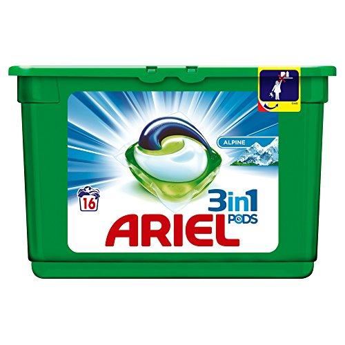 ARIEL Alpine Waschmittel-Kapseln, 16Waschgänge