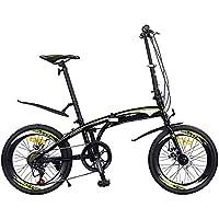 XMIMI Frenos Plegables de Doble Disco de Velocidad del Coche 40 Anillo de Cuchilla Alta Bicicleta para Hombres y Mujeres 20 Pulgadas 7 velocidades