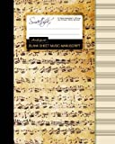 Blank Sheet Music: Music Manuscript Paper / Staff Paper / Musicians Notebook [ Book Bound (Perfect Binding) * 12 Stave * 100 pages * Large * Antique ]