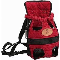 OMEM Pet Hunde Rucksack Carrier vorne Pack verstellbar Katze Outdoor Travel Bag (L)