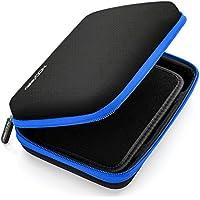 deleyCON Navi Tasche / Navi Case / Tasche für Navigationsgeräte - 6 Zoll & 6,2 Zoll (17x12x4,5cm) - Robust & Stoßsicher - 1 Innenfach - Schwarz/Blau