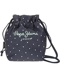 Pepe Jeans Denim Dots Bolso Bandolera, 22 cm, 4.08 Litros, Azul